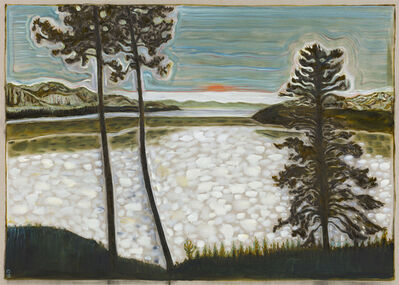 Billy Childish, 'midnight sun / frozen lake', 2017