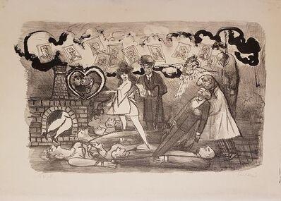 Mino Maccari, 'Funeral Love', 1967