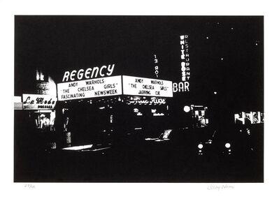 Billy Name, 'Regency cinema Chelsea Girls marquee', 1966