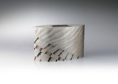 """Oshiyama Motoko, 'Kakuhanmon Vase """"Sazare Gumo"""" (Little Clouds) ', 2017"""