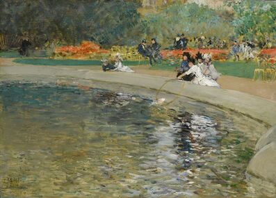 Childe Hassam, 'In the park', ca. 1889