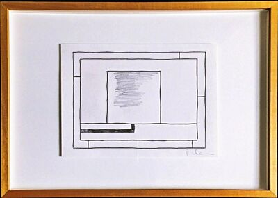 Peter Halley, 'Graphite and ink drawing', ca. 1990