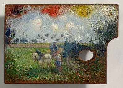 Camille Pissarro, 'The Artist's Palette with a Landscape', 1878-1880