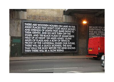 Robert Montgomery, 'Wooden Houses on Land', 2011