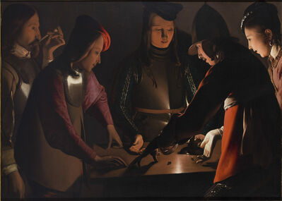 Georges de La Tour, 'Dice Players', 1650-1651
