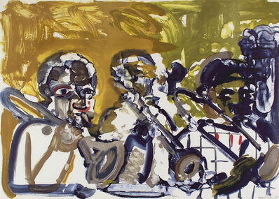 Romare Bearden, 'Brass Section (Jamming at Minton's)', 1979