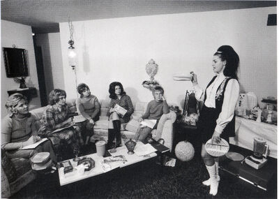 Bill Owens, 'I enjoy giving a Tupperware party in my house.', 1971