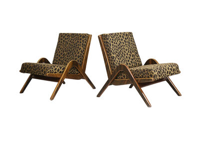 Attributed to Neil Morris, 'A pair of Boomerang chairs', circa 1950