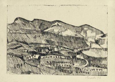 Giorgio Morandi, 'Paesaggio Grizzana', 1913