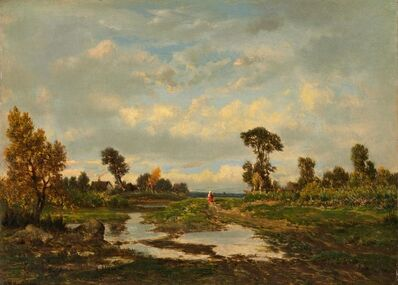 Théodore Rousseau, 'The Farm (Cottage at the End of a Marsh)', ca. 1860