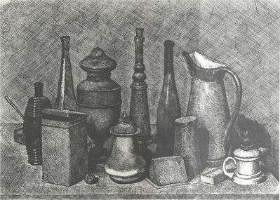 Giorgio Morandi, 'Big Still Life with the lamp on the right', 1928