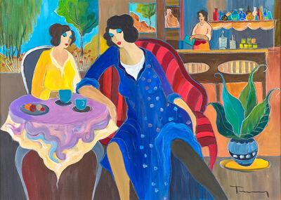 Itzchak Tarkay, 'Untitled (Women in a Cafe)'