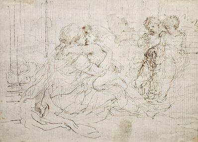 Stefano Della Bella, 'A Mother and Child, Two Children, and a Dog', ca. 1660