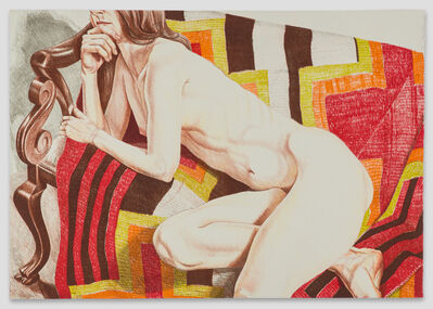 Philip Pearlstein, 'Nude with Chiefs Blanket ', 1978