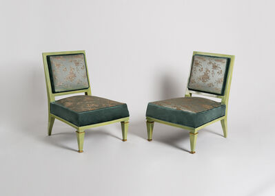Jacques Quinet, 'Rare Pair of Slipper Chairs', ca. 1945