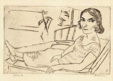Max Beckmann, 'ITALIENERIN', 1923