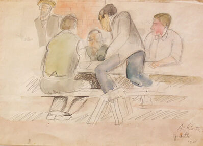 Alfréd Réth, 'Granville - Men Sitting at a Table', 1915