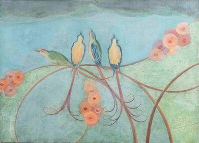 Gerardo Dottori, 'Uccelli su ramo fiorito', 1932