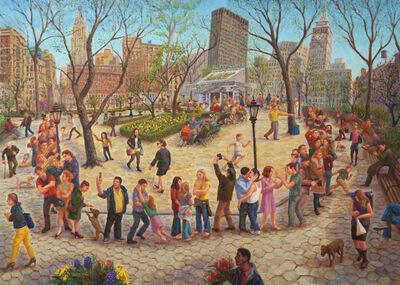 John Alexander Parks, 'Madison Square Park, Shake Shack Line', 2014