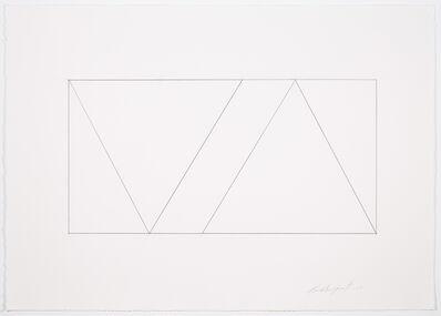 Claude Tousignant, 'Variation 59 : série de cinq tableaux à structure identique, symétrique et réversible, trouvée par hasard ', 2019