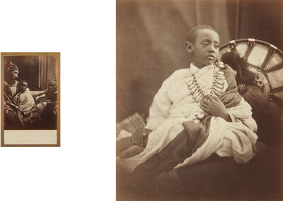 Julia Margaret Cameron, 'Déjatch Álámáyou, King Theodore's Son and Déjatch Álámáyou & Báshá Félika, King Theodore's Son & Captain Speedy', 1868