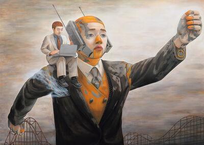 Tetsuya Ishida, 'Cell Phone Robot and Laptop Boy', 1996