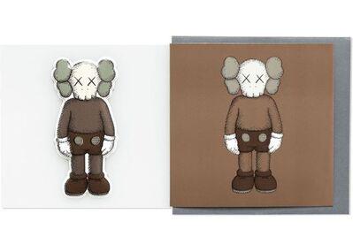 KAWS, 'KAWS x NGV Companion Greeting Card with Puffy Sticker (Brown), 2019', 2019