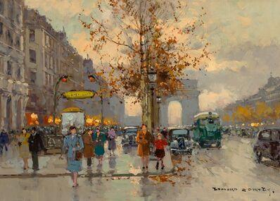 Edouard Léon Cortès, 'Avenue George V et les Champs-Élysées'