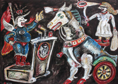 Heri Dono, 'Protectionism that's Afraid of the Trojan Horse', 2017