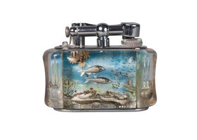 Dunhill, 'an Aquarium table lighter', 2nd Quarter 20th Century