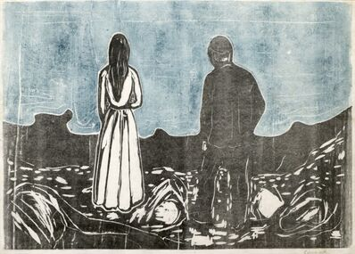 Edvard Munch, 'Two Human Beings. The Lonely Ones', 1899