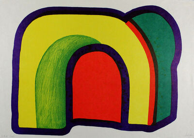 Howard Hodgkin, 'Composition with Red', 1971
