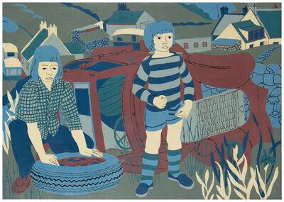Norman Gilbert, 'Children Beside the Old Car'