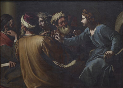 Antiveduto Gramatica, 'Christ disputing with the Doctors  ', ca. 1613