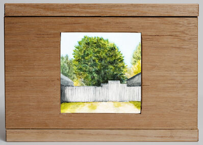 Waratah Lahy, 'Fence and tree', 2019