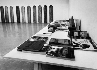 Claudio Abate, 'Eliseo Mattiacci, tavolo delle verifiche delle scritture', 1972