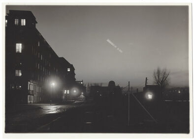 Josef Sudek, 'Untitled (Time Lapse w/ moon, streetscape)', ca. 1950