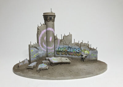 """Banksy, '""""Defeated"""" Souvenir Wall Section', 2019"""