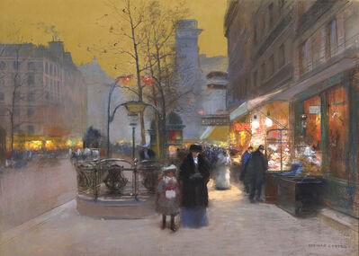 Edouard Léon Cortès, 'Porte St. Denis at Nightfall', 20th Century