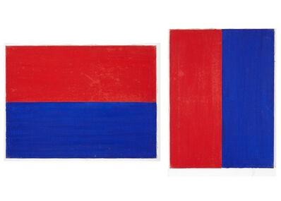 Albert Mertz, 'R+B-lodret-deling, R+B-vandret-deling', 1977