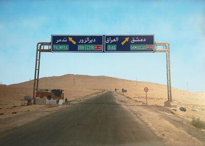 Luke Cornish (ELK), 'Desert Road Sign', 2017