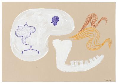 Ashley Hans Scheirl, 'Jaw and 2 Locks of Hair', 2021