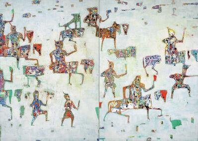 Reza Derakshani, 'Spring Snow Hunt (Diptych)', 2019
