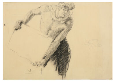 Sir Frank Brangwyn, 'Study of a labourer'
