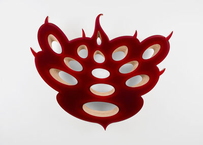 Donald Moffett, 'Lot 081718 (mercurial ruby)', 2018