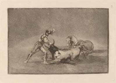 Francisco de Goya, 'Un caballero espanol mata un toro despues de haber perdido el caballo (A Spanish Knight Kills the Bull after Having Lost His Horse)', in or before 1816