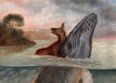 Sam Branton, 'Deer with humpback whale', 2020