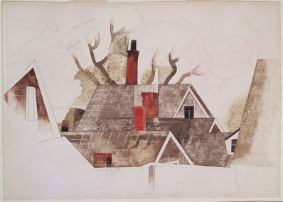 Charles Demuth, 'Red Chimneys', 1918