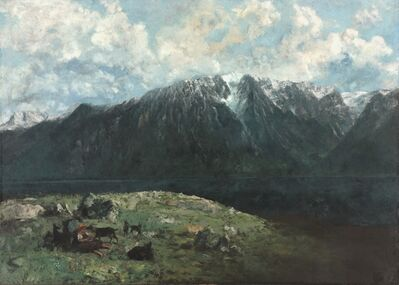 Gustave Courbet, 'Panoramic View of the Alps, Les Dents du Midi', 1877