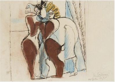 "Le Corbusier, 'Etude pour ""Cirque"" dit aussi ""le cheval de cirque"", New-York', 1935"